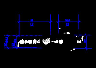 Technische Zeichnung von einer DREHMEISTER Einblasdüse für Lovato Injektoren