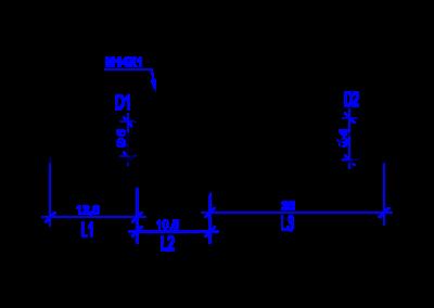 Technische Zeichnung von einem DREHMEISTER 6mm Rohrstutzen für Flexleitung 6mm