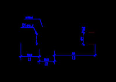 Technische Zeichnung von einem DREHMEISTER 8mm Rohrstutzen für Flexleitung 8mm