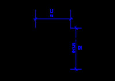 Technische Zeichnung von einer DREHMEISTER Überwurfmutter M16x1 für Flexleitung 8mm