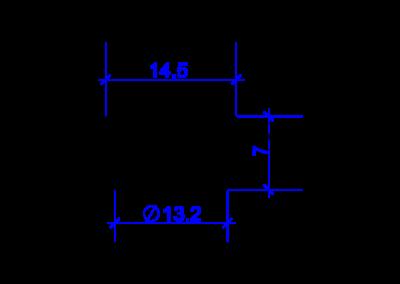 Technische Zeichnung von einem DREHMEISTER Schneidring für Flexleitung 8mm