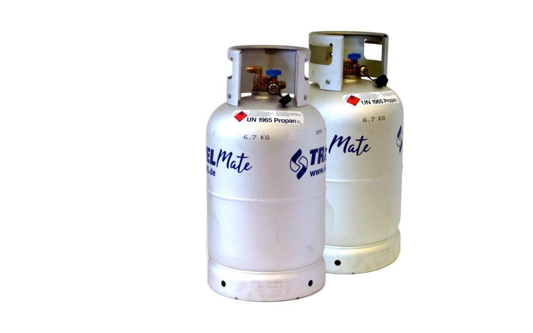 ALUGAS Travel Mate Tankflaschen mit TÜV bis 2030
