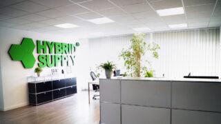 Empfang des HybridSupply-Büros in der Stellmacherstraße 9, DE-23556 Lübeck