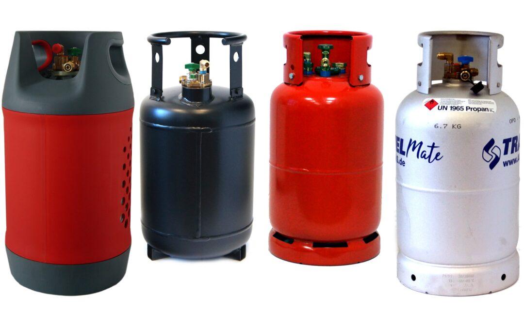 Wiederbefüllbare Gasflaschen