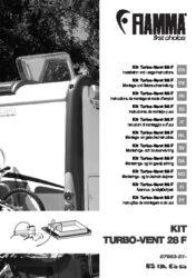 Montage -und Gebrauchsanleitung Kit Turbo-Vent 28 F
